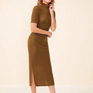 H&M Knit Ribbed Midi Sweater Dress